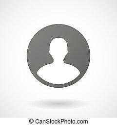 avatar, 背景, アイコン, 白い男性