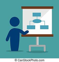 avatar, 隔離された, 会議, 訓練, ビジネス, デザイン