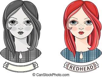 Avatar beautiful redheaded girl. Kinky teen. - Avatar...