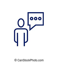 avatar business person figure with speech bubble icon