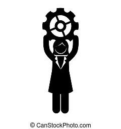 avatar businessperson with gear