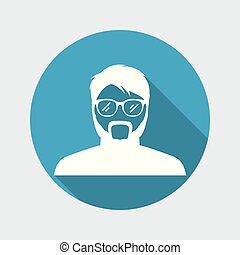 Avatar face of senior man
