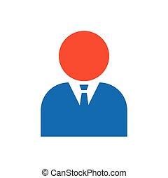 avatar Flat icon and Logo  blue, orange