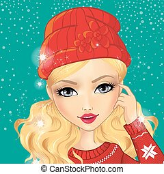 Avatar Girl In Red Hat