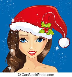 Avatar Girl With Christmas Hat