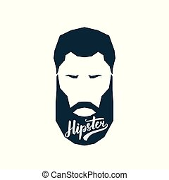 Avatar hipster with beard.