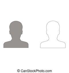 avatar, icona, set