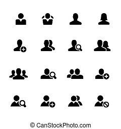 Avatar Icons // Black Series