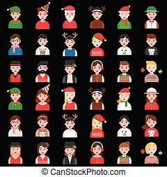 Avatar in winter and Christmas theme various fancy costume