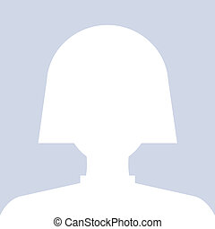 Avatar internet social female profile in white. Vector