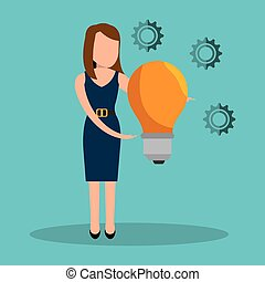 avatar man and yellow bulb