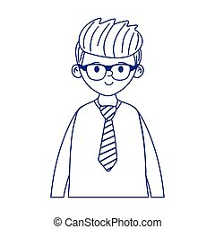 Avatar man cartoon with glasses vector design