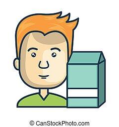 avatar man cartoon