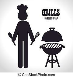 avatar man grills menu design