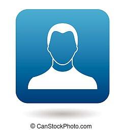 Avatar man icon, simple style