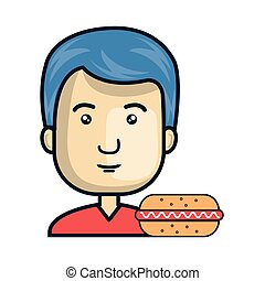 avatar man with food