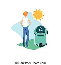 Avatar man with trash design