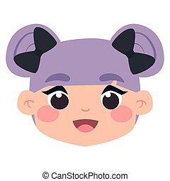 Avatar of a girl cartoon