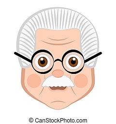 Avatar of a grandfather cartoon