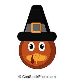 Avatar of a turkey bird with a pilgrim hat