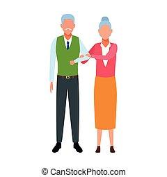 avatar old couple icon
