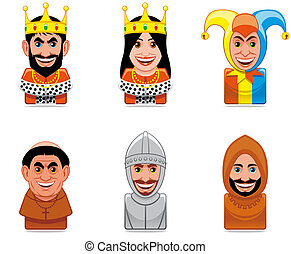 Avatar people icons (middle ages)