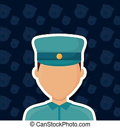 avatar police man icon