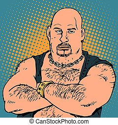 avatar portrait bald biker