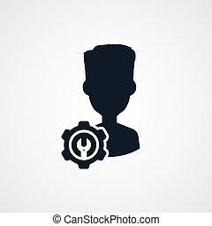 avatar portrait cog setting icon theme
