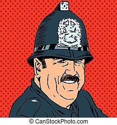avatar portrait of a British police officer