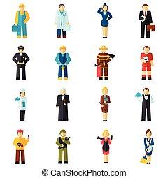 Avatar profession flat - Avatar professions flat avatars set...