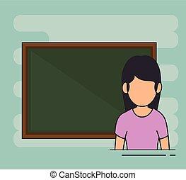 avatar school teacher at the chalkboard