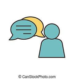 avatar speech bubble social media icon