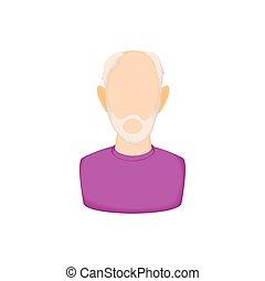 Icona uomo barba semplice brutale vettore uomo icona barba