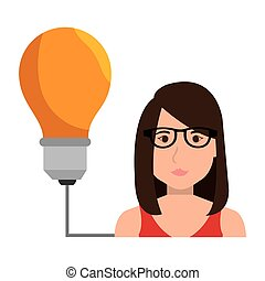 avatar woman and yellow bulb