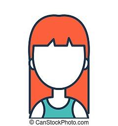 avatar woman cartoon