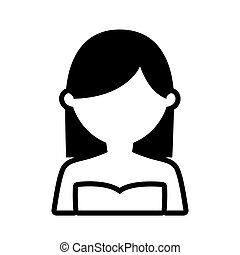 avatar woman picture profile outline