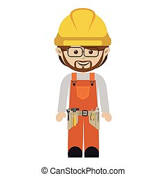 avatar worker with toolkit and beard