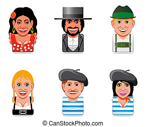 Avatar world people icons
