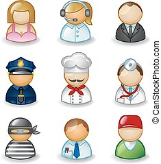 Avatars as different professions