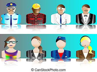 avatars, ocupación