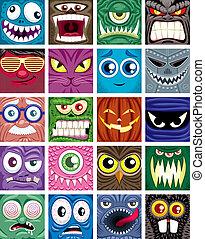Avatars  - Set of 20 square avatars.