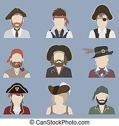 avatars., set, zeerover