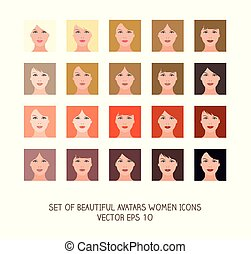Avatars women icons