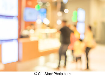 avbild, av, försäljning butik, suddig, bakgrund.