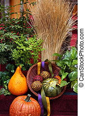 avbild, färg, dekoration, dekoration, orange pumpa