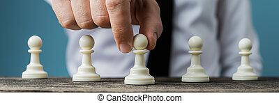 avbild, taktik, affär, begreppsmässig, vision