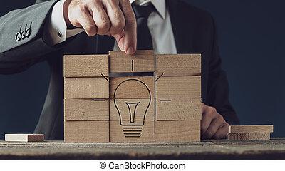 avbild, vision, idé, affär, begreppsmässig