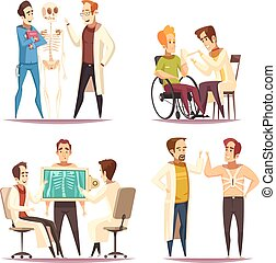 avbildar, tecknad film, orthopedist, 4, begrepp