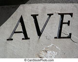 ave, avenue